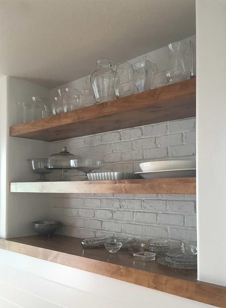 Sunpro Millwork Built in Shelves Floating Shelves Kitchen