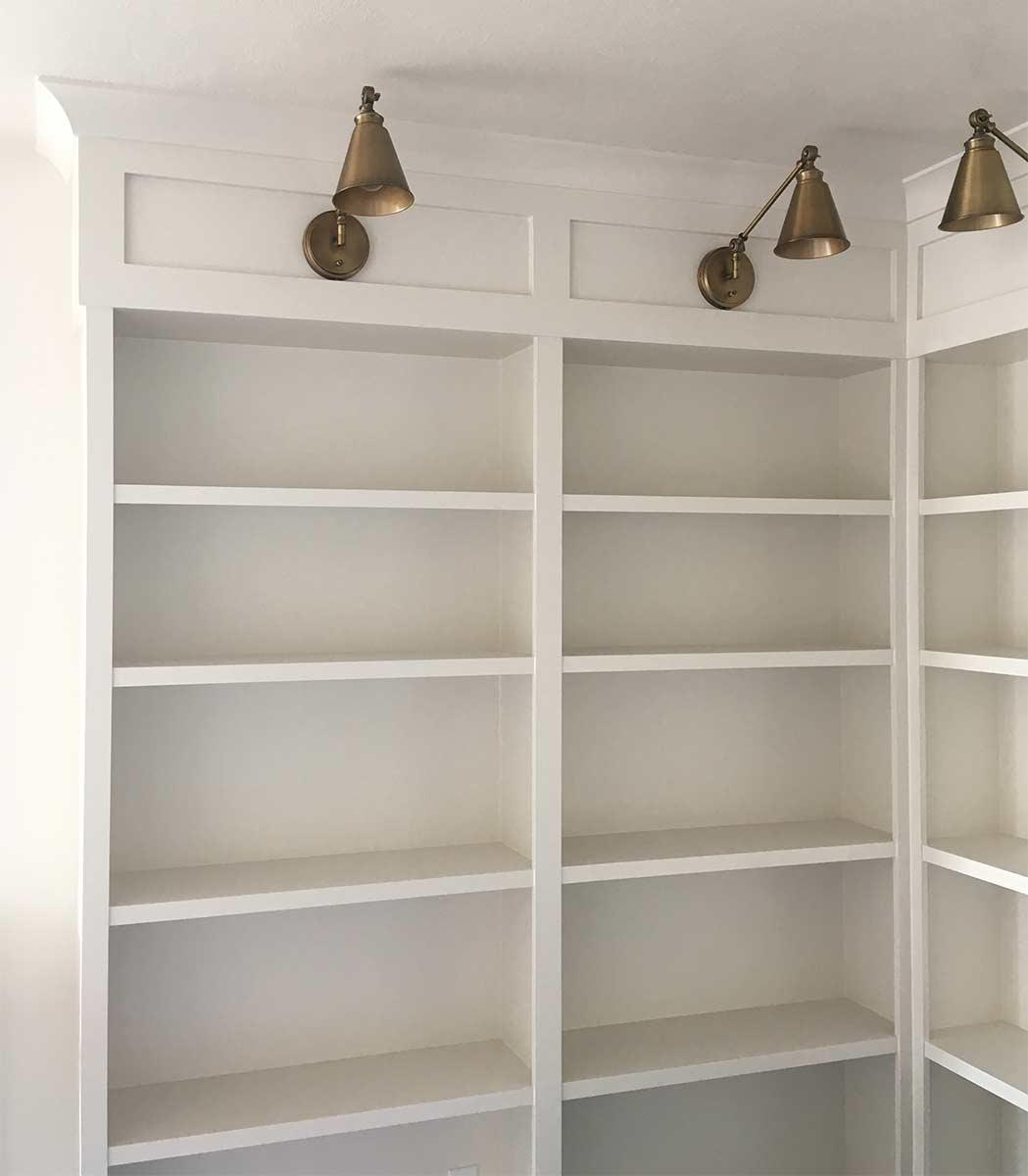 Sunpro Millwork Built in Shelves for Library
