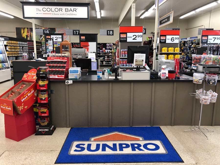Rexburg Sunpro store interior Rexburg Idaho