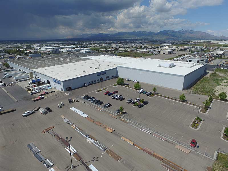 Sunpro Salt Lake City Lumber Yard aerial image