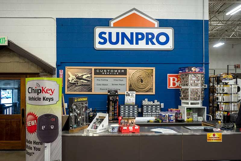 Sunpro Springville Store Paint Counter